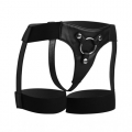 Strap-on Harness in Schwarz im Straps-Look